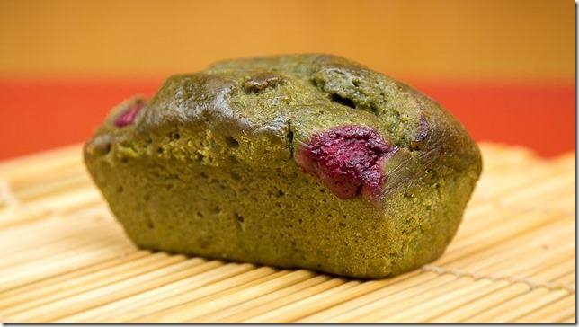 cake au thé vert et framboises