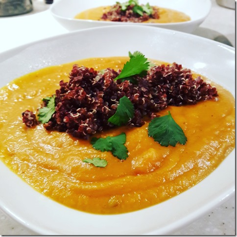 potage de patates douces au quinoa