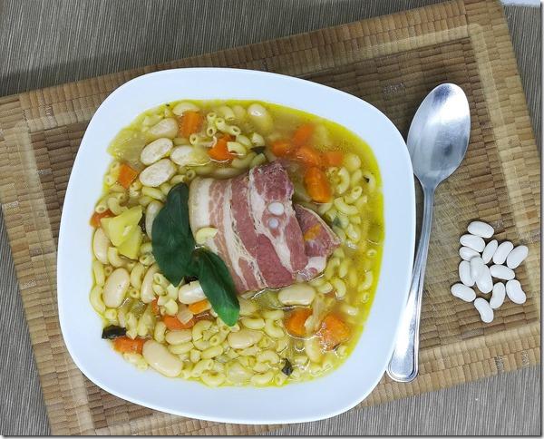 soupe au pistou au lard