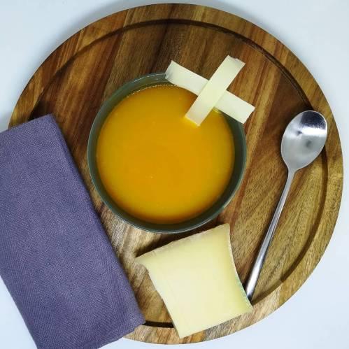 soupe de potimarron au beaufort