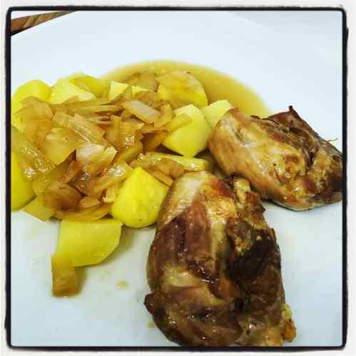 poulet au cidre et pommes de terres
