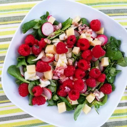 salade mache framboise