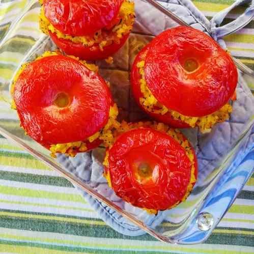 Tomate farcie au riz safrané