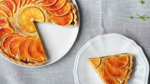 pie on white plate
